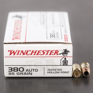 500rds - 380 Auto Winchester 95gr. JHP Ammo