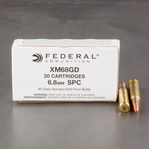 500rds - 6.8 Rem SPC Federal XM68GD 90gr. Bonded Soft Point Ammo
