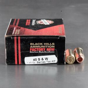 20rds – 40 S&W Black Hills 140gr. Barnes TAC-XP HP Ammo