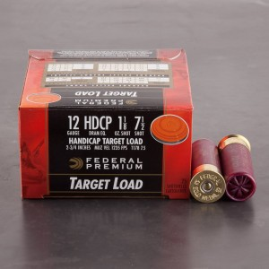 "25rds - 12 Gauge Federal Premium Handicap Target Load 2 3/4"" 1 1/8 oz. #7 1/2 Shot Ammo"