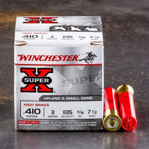 "25rds - 410 Gauge Winchester Super-X High Brass 3"" 1 1/16oz. #7 1/2 Shot Ammo"