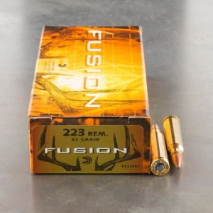 20rds - 223 Federal Fusion 62gr. SP Ammo