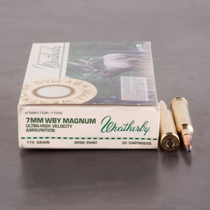 20rds - 7mm Weatherby Mag. 175gr. Spire Point Ammo