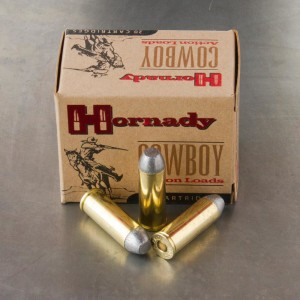 20rds - 45 Long Colt Hornady 255gr. Cowboy Flat Point Ammo