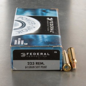20rds - .223 Federal Power Shok 64gr. SP Ammo