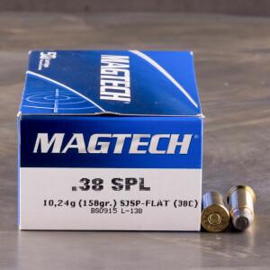 50rds - 38 Special Magtech 158gr. SJSP Ammo