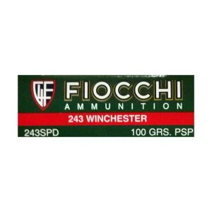 20rds – 243 Fiocchi Rifle Shooting Dynamics 100gr. PSP Ammo
