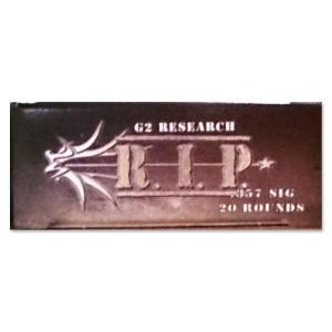 20rds - 357 SIG G2 Research RIP 92gr. HP LF Ammo