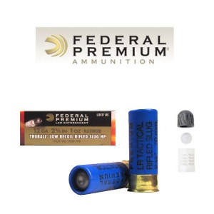 5rds - 12 Gauge Federal LE Tactical Low Recoil TRUBALL Rifled Slug