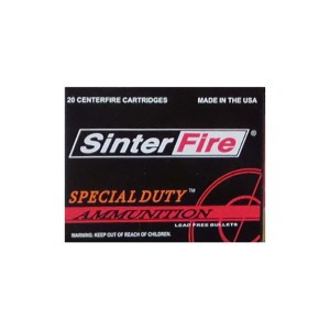 20rds - 45 ACP SinterFire Special Duty 155gr. Frangible HP Ammo