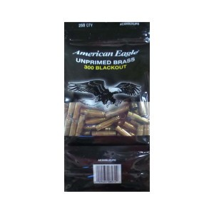 250pcs – 300 AAC BLACKOUT Federal American Eagle New Unprimed Brass Casings