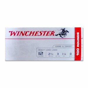 """100rds – 12 Gauge Winchester Heavy Game & Target 2-3/4"""" 1-1/8 oz. #8 Shot Ammo"""