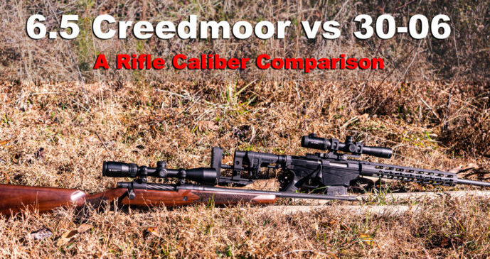 6.5 creedmoor vs 30-06 ammo