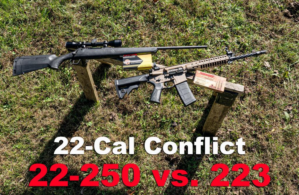 22-250 vs 223 AR-15 rifle