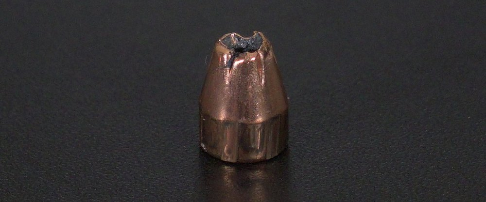 Image detailing before and after firing 25rds – 380 Auto Hornady American Gunner 90gr. XTP Ammo