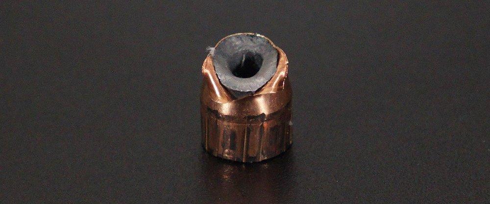 Image detailing before and after firing 50rds - 45 ACP Nosler Match Grade Handgun 185gr. JHP Ammo