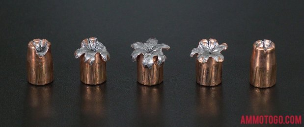 Expanded Speer 124 Grain Jacketed Hollow-Point (JHP) 9mm Luger (9x19) Ammo.