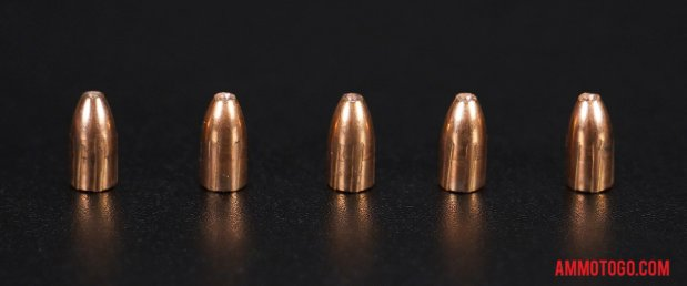 Top-down view of expanded CCI Ammunition 22 Magnum (WMR) 30 Grain Hollow Point bullets