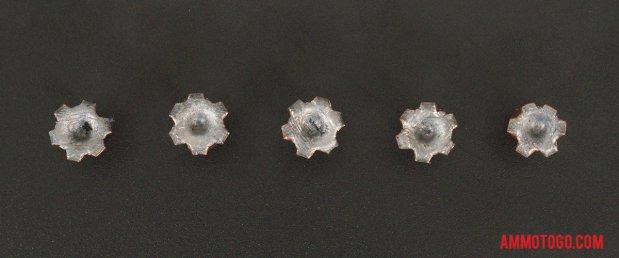 Birds-eye view of Federal Ammunition 357 Magnum Ammo after firing into ballistic gelatin