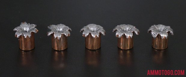 Fired rounds of Speer 180 Grain 40 Smith & Wesson Jacketed Hollow-Point (JHP) Ammo