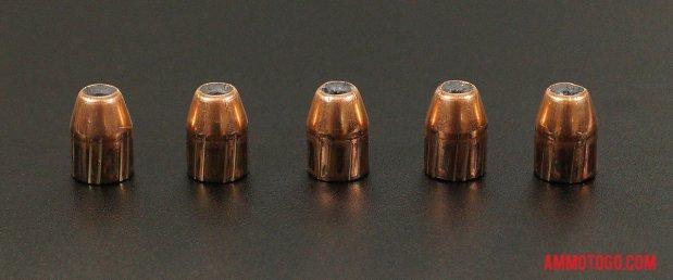 Nosler Ammunition 230 Grain Jacketed Hollow-Point (JHP) 45 ACP (Auto) ammo fired into ballistic gelatin