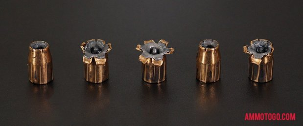 Expanded Federal Ammunition 165 Grain Jacketed Hollow-Point (JHP) 40 Smith & Wesson Ammo.