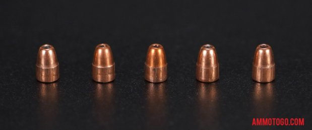 Expanded bullets from fired CCI Ammunition 22 Magnum (WMR) 30 Grain Jacketed Hollow-Point (JHP) ammo