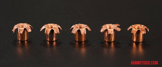 Expanded Buffalo Bore 10mm Auto 155 Grain Jacketed Hollow-Point (JHP) bullets