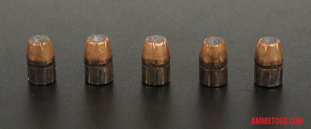 Expanded bullets from fired Black Hills Ammunition 38 Special 125 Grain Jacketed Hollow-Point (JHP) ammo