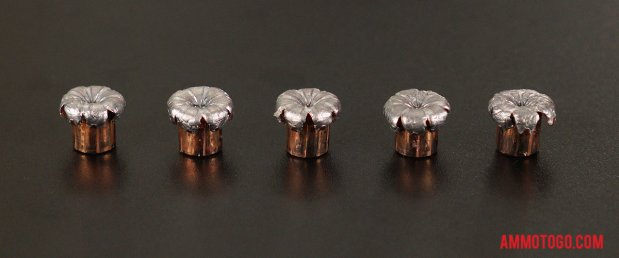 Expanded Speer 357 Magnum 135 Grain Jacketed Hollow-Point (JHP) bullets