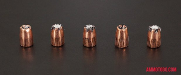 Expanded Speer 9mm Luger (9x19) 115 Grain Jacketed Hollow-Point (JHP) bullets