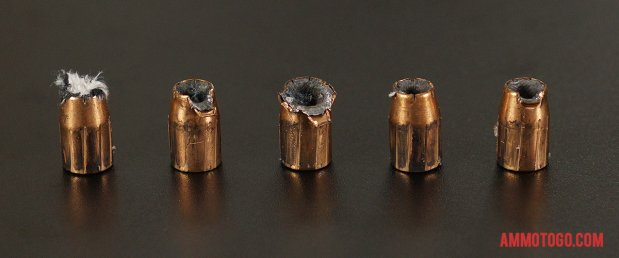 Expanded Federal Ammunition 40 Smith & Wesson 180 Grain Jacketed Hollow-Point (JHP) bullets