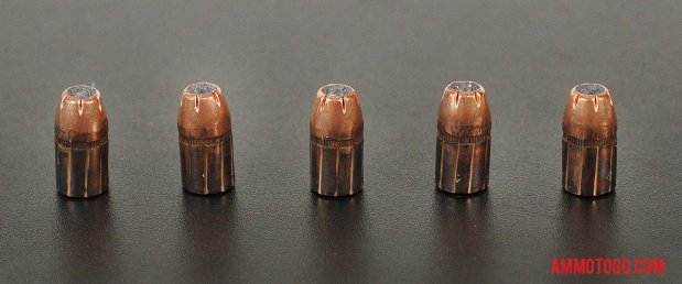 Expanded bullets from fired Hornady Ammunition 38 Special 158 Grain Jacketed Hollow-Point (JHP) ammo