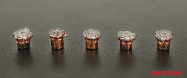 357 magnum hollow point ammo after being fired into gel