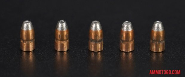 Expanded bullets from fired Winchester Ammunition 22 Magnum (WMR) 28 Grain Jacketed Hollow-Point (JHP) ammo
