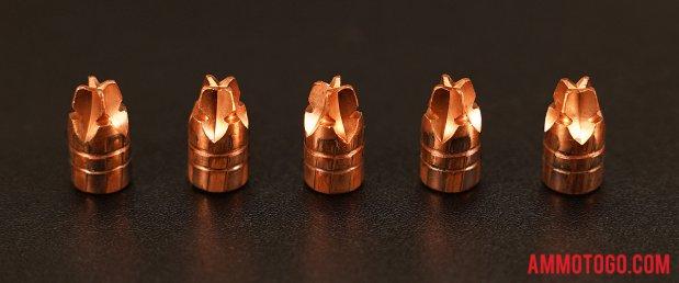 Black Hills Ammunition 100 Grain HoneyBadger 9mm Luger (9x19) ammo fired into ballistic gelatin