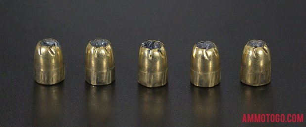 Expanded bullets from fired Remington Ammunition 380 Auto (ACP) 102 Grain Jacketed Hollow-Point (JHP) ammo
