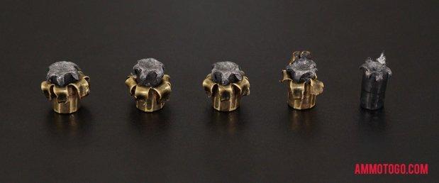 Remington Ammunition 147 Grain Jacketed Hollow-Point (JHP) 9mm Luger (9x19) ammo fired into ballistic gelatin