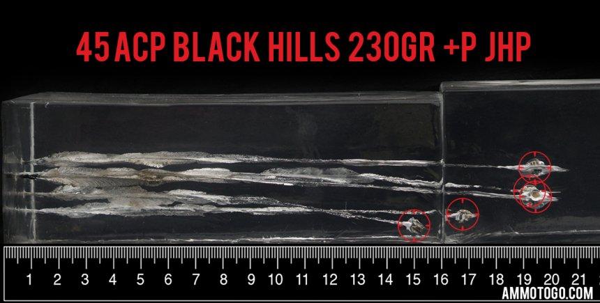 Remington Ammunition 125 Grain 357 Magnum ammunition fired into ballistic gelatin