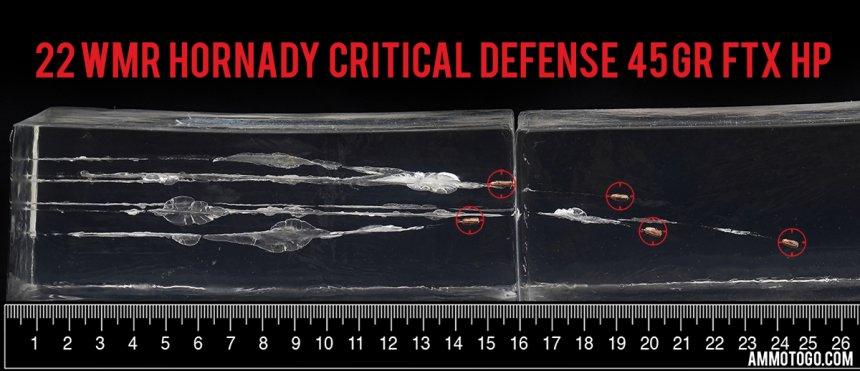 22 WMR self-defense ammo testing