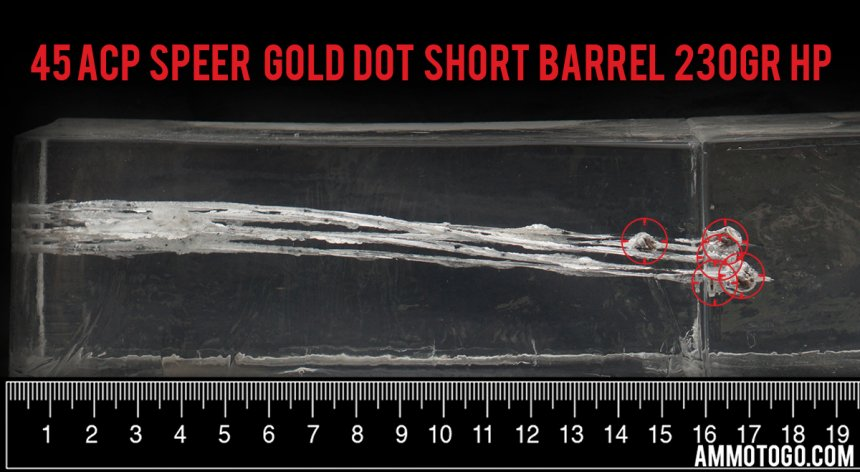 45 ACP Speer Gold Dot Short Barrel Ammo Test