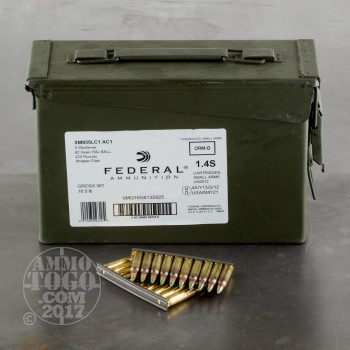 Image of 420rds - 5.56 Federal Lake City XM855LC AC1 62gr. FMJ Penetrator Ammo on strippers