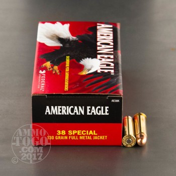 Image of 1000rds - 38 Special Federal American Eagle 130gr. FMJ Ammo