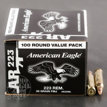 Image of 500rds - 223 Federal American Eagle AR223 55gr. FMJ Value Pack Ammo