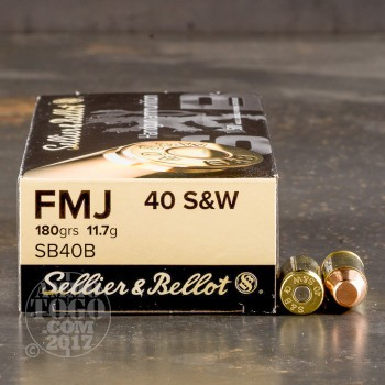 Image of 1000rds - 40 S&W Sellier & Bellot 180gr. FMJ Ammo