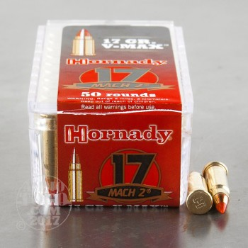 Image of 50rds - 17 Mach 2 Hornady 17gr. V-Max Polymer Tip Ammo
