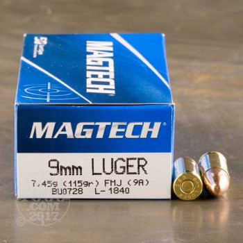 Image of 1000rds - 9mm MAGTECH 115gr. FMJ Ammo