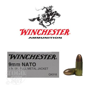 Image of 500rds - 9mm Winchester NATO Mil-Spec 124gr. FMJ Ammo