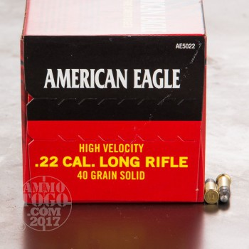 Image of 500rds - 22LR Federal American Eagle 40gr. HV Solid Point Ammo