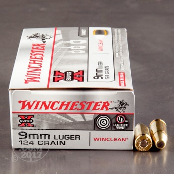 Image of 500rds - 9mm Winchester WinClean 124gr. Brass Enclosed Base (BEB)